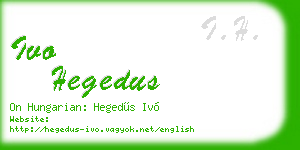 ivo hegedus business card